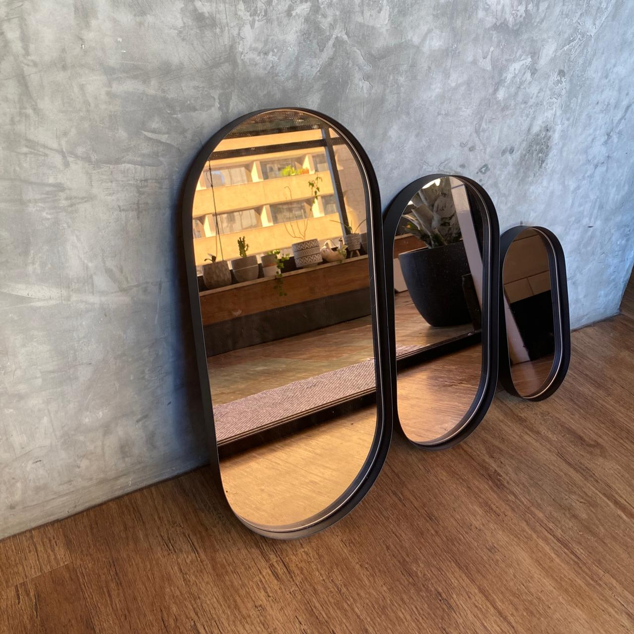 bandeja espelhada preta