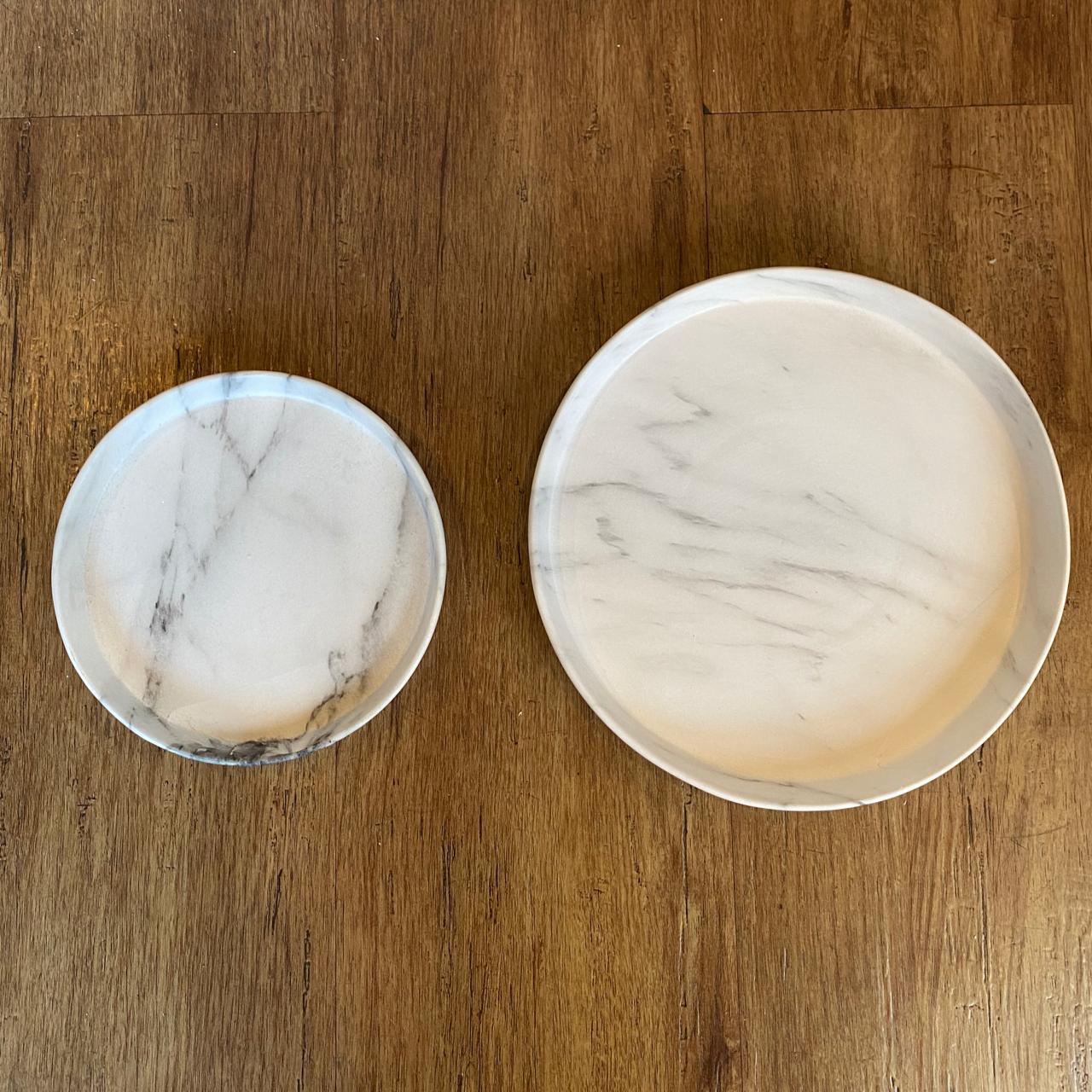 bandeja marmorizada redonda