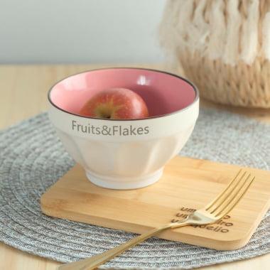 BOWL FRUITS & FLAKES ROSA