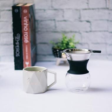 CAFETEIRA EM VIDRO
